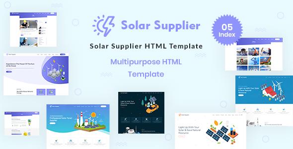 Excellent Solar Supplier - Responsive HTML Template