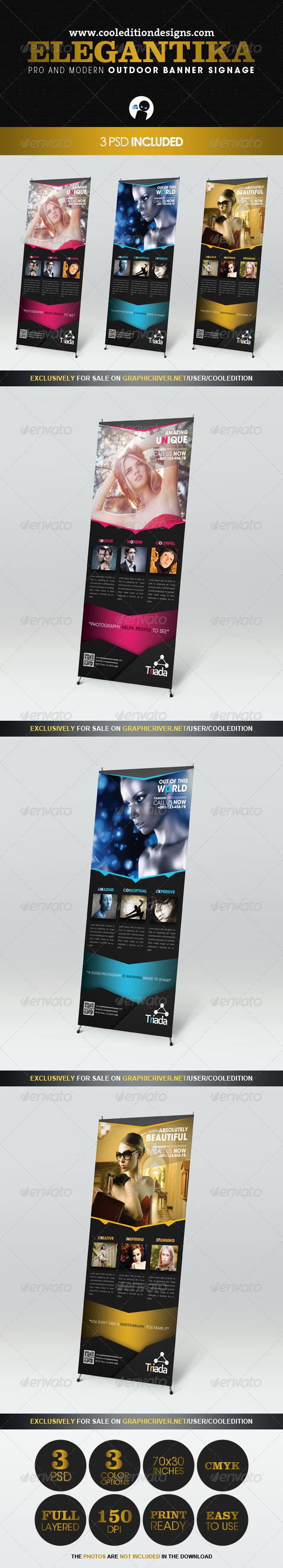 Elegantika - Pro & Modern Outdoor Banner Signage - Signage Print Templates