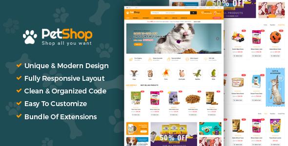 PetShop – Responsive Pet Shop Joomla Template