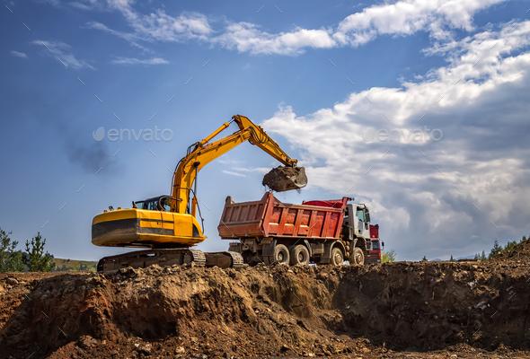 working excavator - Stock Photo - Images