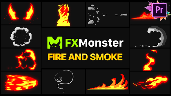Fire And Smoke Elements | Premiere Pro MOGRT