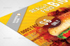 02 fast food flyer template preview.  thumbnail