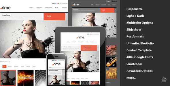 Rime – Responsive Portfolio for WordPress