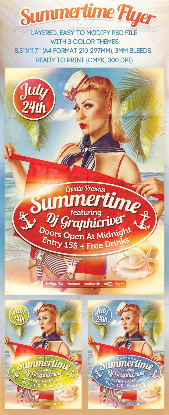 Summertime Flyer - Events Flyers