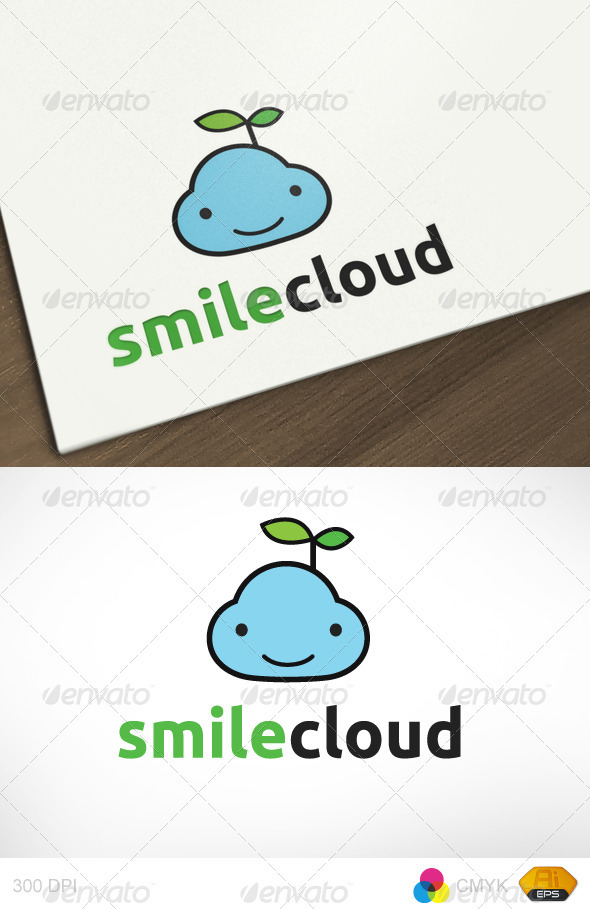 Smile Cloud Logo - Symbols Logo Templates