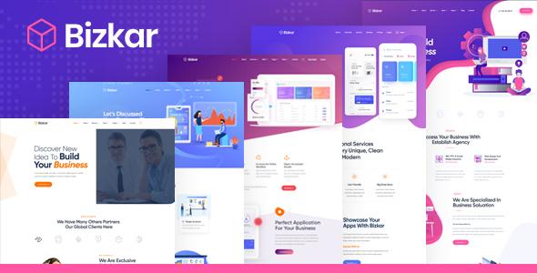 Exceptional Bizkar - Creative Multi-Purpose HTML Template