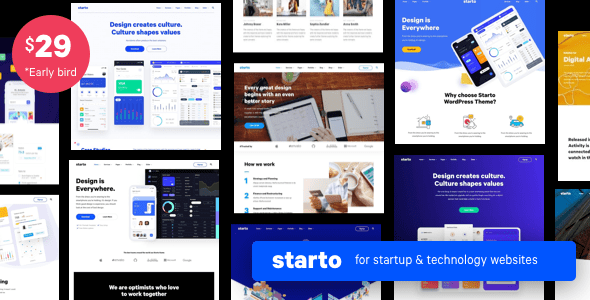 Download Starto   Saas Software Startup WordPress Free Nulled