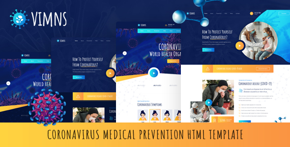 Nice Vimns - Coronavirus Medical Prevention HTML Template