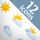 Weather icon set (12 icons) - GraphicRiver Item for Sale