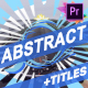 Abstract Elements And Titles | Premiere Pro MOGRT