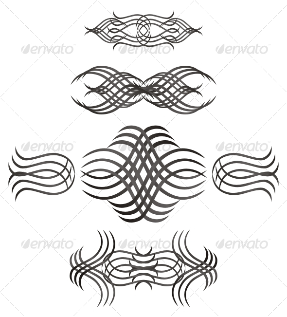 Vector swirls - Decorative Symbols Decorative