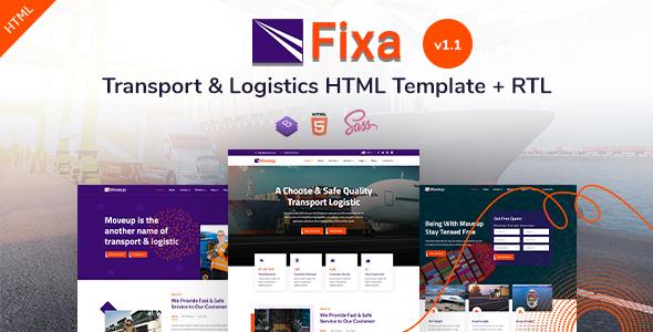 Fixa - Transport & Logistics HTML Template