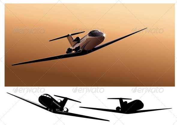 Business-Jet - Travel Conceptual