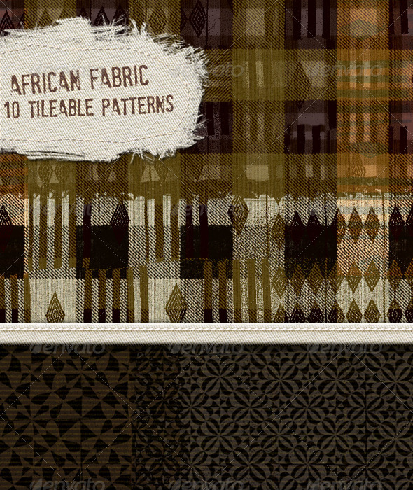 10 Ethnic Africa Fabric Designs; Tileable Patterns - Patterns Decorative