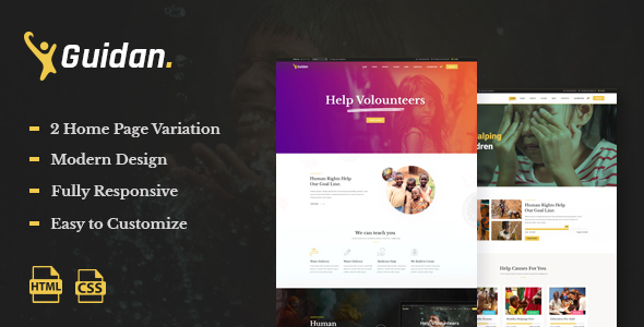 Guidan - NonProfit Charity HTML5 Template
