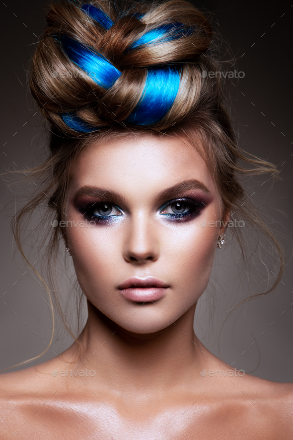 Fashion beauty portrait of a beautiful girl - Stock Photo - Images