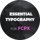 Essential Typography for FCPX - VideoHive Item for Sale