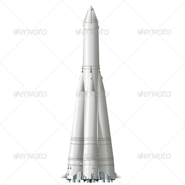 First Space Rocket - Retro Technology