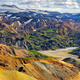 Landscape view of Landmannalaugar colorful volcanic mountains, Iceland - PhotoDune Item for Sale