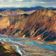 Landscape view of Landmannalaugar colorful volcanic mountains and river, Iceland - PhotoDune Item for Sale