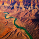 Panoramic landscape view of curved colorado river in Grand canyon, USA - PhotoDune Item for Sale
