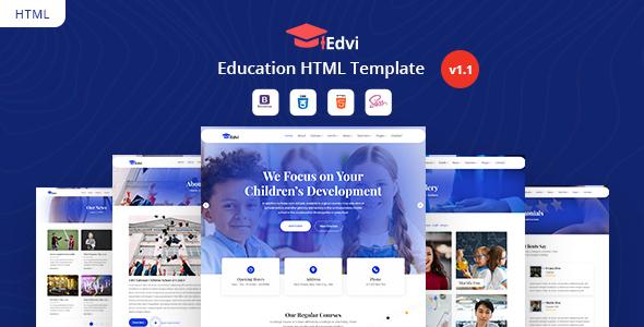 Edvi - Education HTML Template