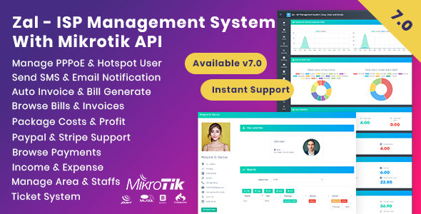 Zal - ISP Management System With Mikrotik API