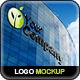 Realistic Building Logo Sign Mock-Up - GraphicRiver Item for Sale