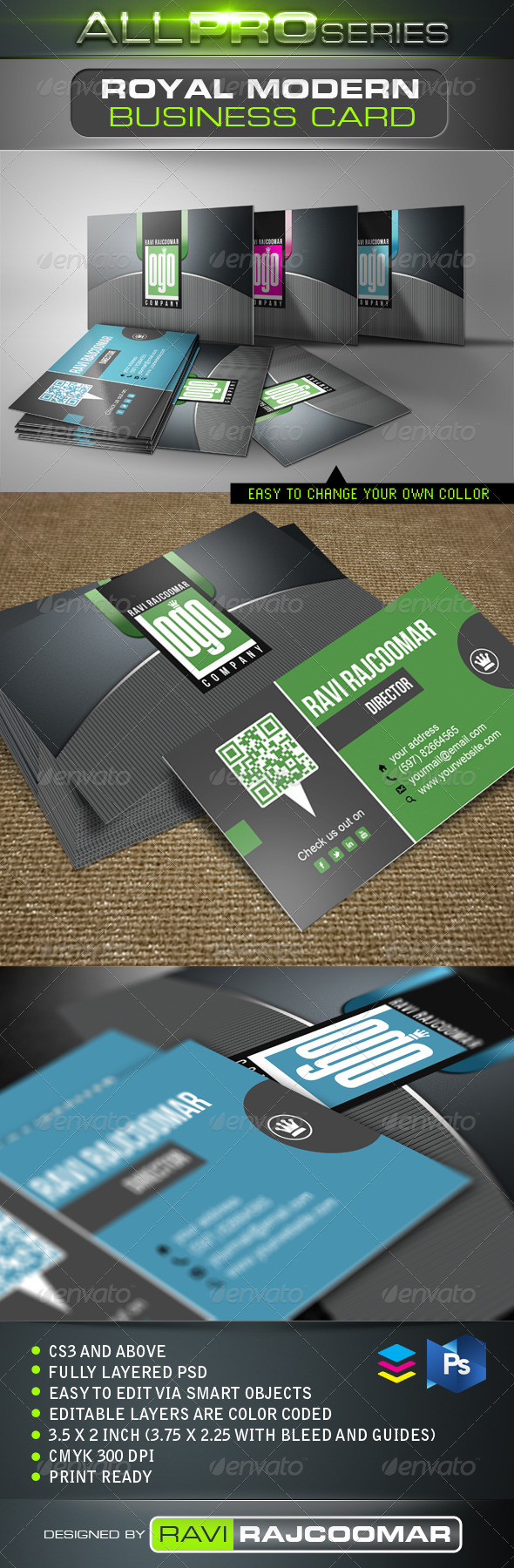 Royal Modern Business Card - Creative Business Cards