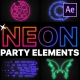 Neon Party Elements | After Effects - VideoHive Item for Sale