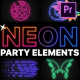 Neon Party Elements | Premiere Pro MOGRT