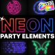 Neon Party Elements | FCPX - VideoHive Item for Sale