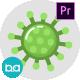 Coronavirus Flat Animation Icons | Premiere Pro MOGRT