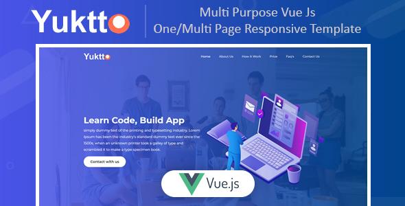 Marvelous Yuktto   Multi Purpose Vue Js One/Multi Page Business Template