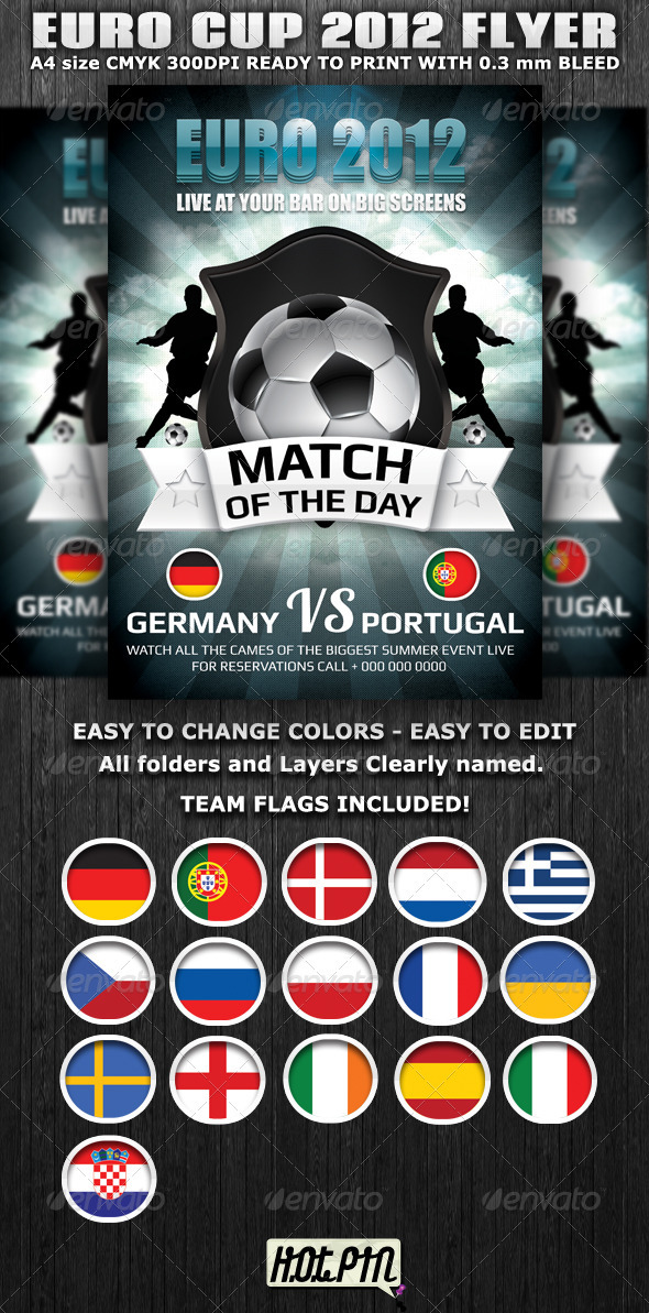 Euro Cup 2012 Football Flyer Template By Hotpin | Graphicriver
