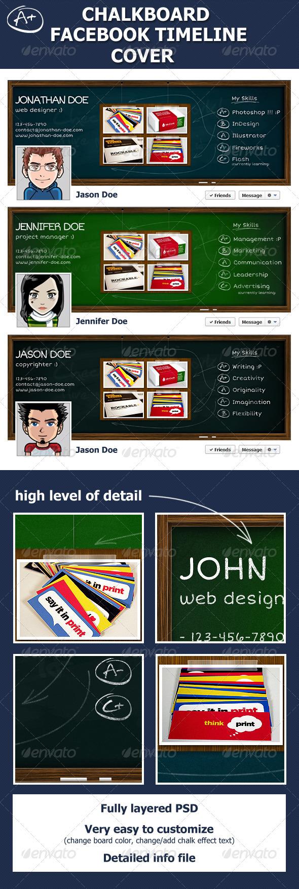 Chalkboard Facebook Timeline Cover - Facebook Timeline Covers Social Media