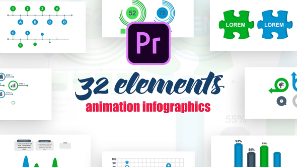 Infographics Vol.17 for Premiere Pro