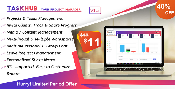 Download Taskhub – Your Project Management Tool Free Nulled