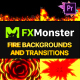 Fire Backgrounds And Transitions | Premiere Pro MOGRT