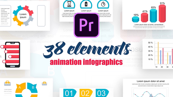 Infographics Vol.19 for Premiere Pro