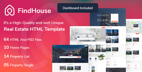 FindHouse – Real Estate HTML Template