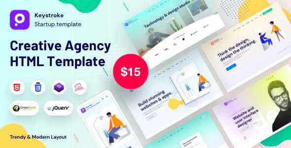 keystroke – Creative Agency Bootstrap Template