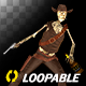 Funny Skeleton - Dancing Cowboy - I - Transparent Loop - VideoHive Item for Sale