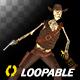 Funny Skeleton - Dancing Cowboy - I - Transparent Loop - VideoHive Item for Sale