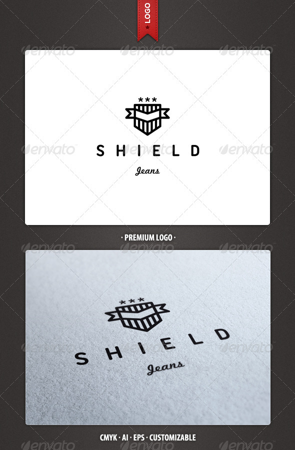 Shield Jeans Logo Template - Crests Logo Templates
