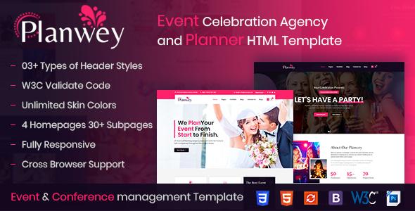 Wondrous Planwey - Event Planner & Celebrations Management HTML Template