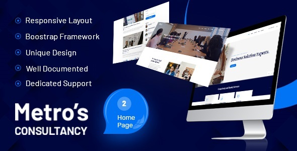 Metros - Business Solution Experts HTML Template