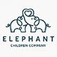 Elephant Love Logo Template