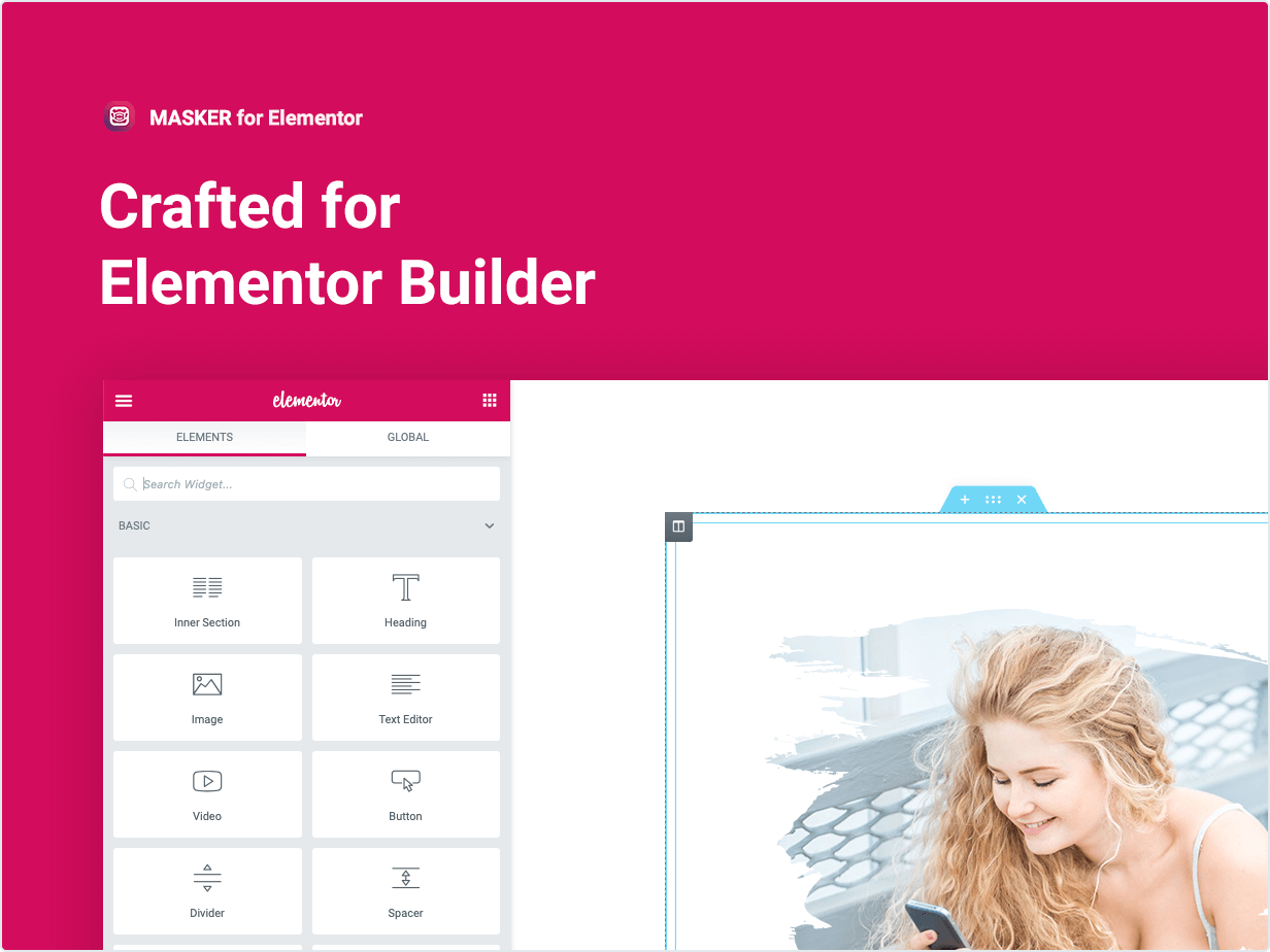 Masker – Clipping Mask for Elementor by merkulove | CodeCanyon