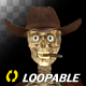 Funny Skeleton - Dancing Cowboy - II - Transparent Loop - VideoHive Item for Sale